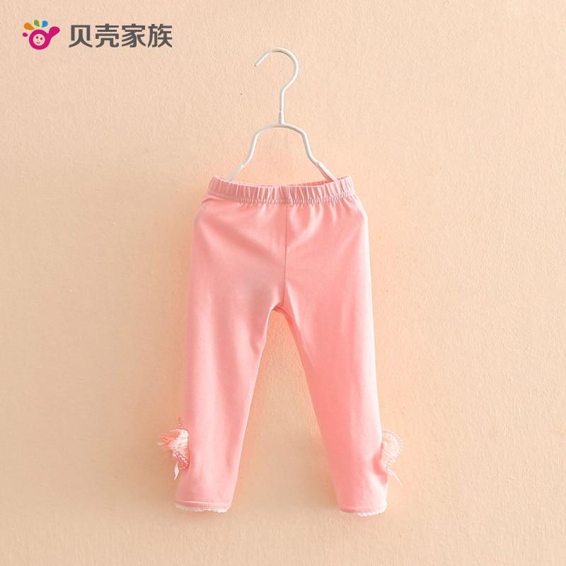 2017 New Spring Girls Leggings Candy Lace Flower Toddler Multicolor Leggings For Childern Clothing Girl Pants Kids