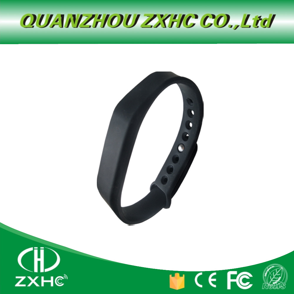 Adjustable Silicone Waterproof NFC Wristband Bracelet Ntag213 Tags
