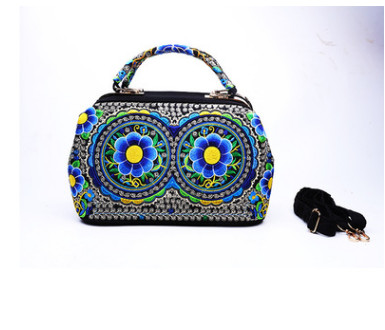 New Fashion Embroidery Women Shopping bags!Hot Versatile Floral embroidered Shoulder&handbag Top All-match Lady Party Carrier