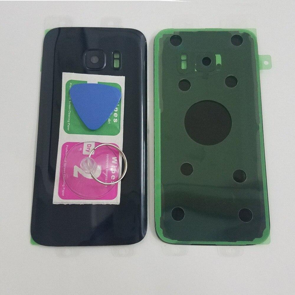For Samsung Galaxy S7 G930 G930F S7 Edge G935 G935F Phone Housing Frame Back Glass Cover Rear Battery Door + Camera Glass Lens