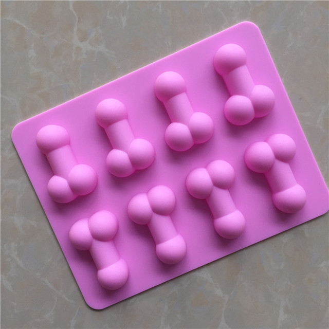 Silicone Dick Ice Cube Cake Tools Novelty Gag Gift Penis Funny Sexy Chocolate Soap Tray Cake