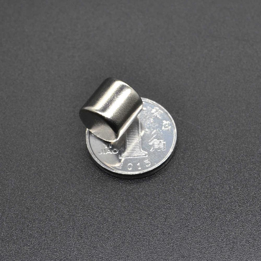 Imán de neodimio 5/10/20/50 Uds. 10x10, tierra rara, pequeño, redondo, fuerte, permanente, 10*10mm, electroimán de frigorífico NdFeB, niquelado magnético