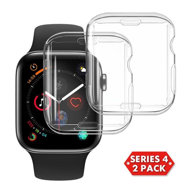 Тонкий защитная пленка из термополиуретана для Apple Watch 4/3/чехол для часов ProBefit 360 градусов прозрачный мягкий чехол для iWatch 42 38 мм 44 40 мм