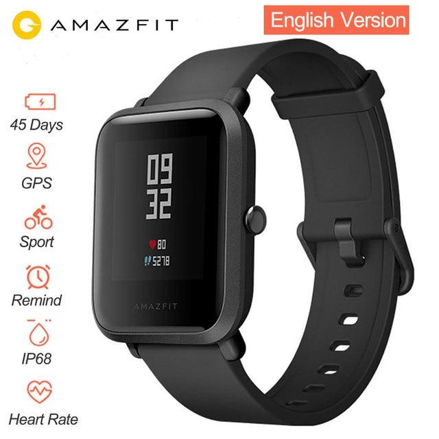 Anglais Version Montre Smart Watch Xiao mi Amazfit Bip Hua mi mi Rythme Lite IP68 GPS Gloness Smartwatch Coeur Taux 45 jours En Veille