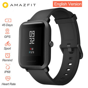 Image 1 - English Version Smart Watch Amazfit Bip Huami IP68 GPS Gloness Smartwatch Heart Rate 45 Days Standby