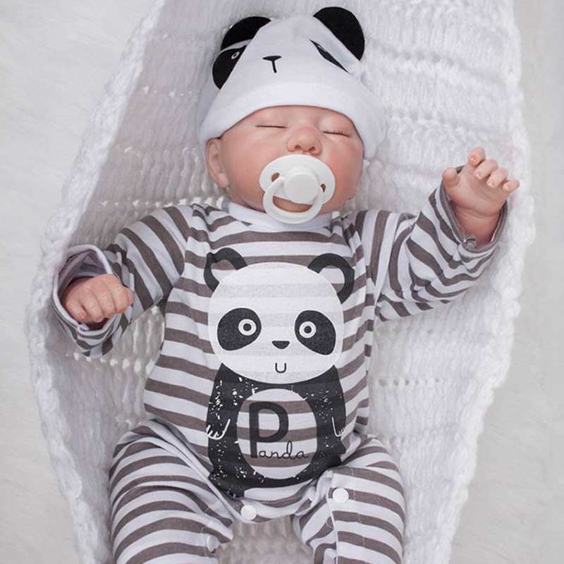 все цены на KEIUMI 20 Inch Sleeping Baby Boy Realistic Silicone Newborn Reborn Babies Dolls For Kids Birthday Gifts 50 cm Doll Reborn Toys онлайн