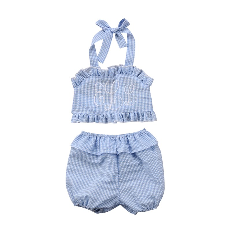 Cute Newborn Baby Girl Summer Clothes Kids Children Sleeveless Blouse Top Shorts Romper Princess Toddler Clothing Sets Sunsuit 2pcs ruffles newborn baby clothes 2017 summer princess girls floral dress tops baby bloomers shorts bottom outfits sunsuit 0 24m