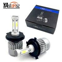 YAstarsz S2 H4 9003 HB2 LED Headlamps Hi Lo Beam 72w Pair COB 8000lm Car LED