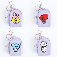 Unisex Cartoon Mini Coin Wallet bt21 Kpop BTS Bangtan Boys Korean Style ARMY Fans Zipper Cute Purse Clutch Accessories Gifts(China)