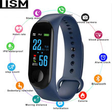 M 3 Fitness Armband Mannen Hartslagmeter Band Bloeddruk Bluetooth Sport Smart Armband Voor Xiao Mi Android IOS kerst(China)