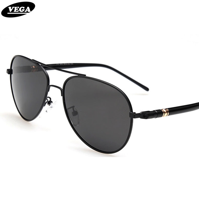 da18e42a24 VEGA Classic Aviator Sunglasses Polarized Authentic Navy Air Force  Sunglasses Men Women Pilot Glasses Flat Top