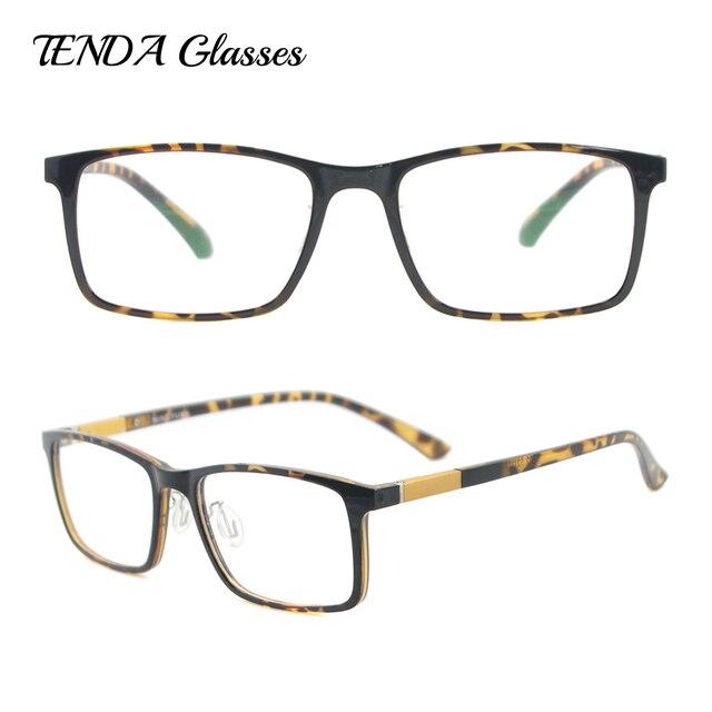 TR90 Lightweight & Flexible Rectangle Eyeglass Frame Men Fashion ...