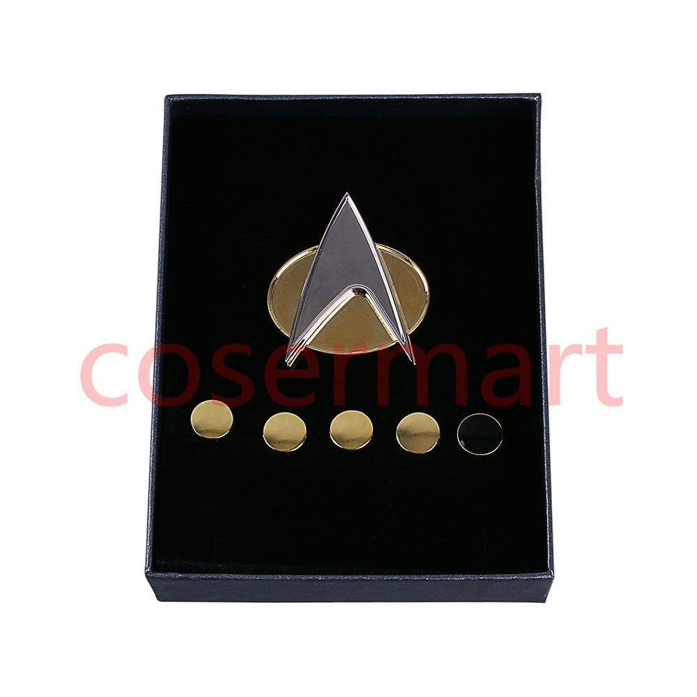 Crachá De Star Trek Next Generation Pin Emblema Do Metal U0026 Classificação  Pip/Pips 6 Pcs Set Cosplay Prop