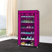 Simple shoe 7 multi- layer non-woven rack 6 grid new home admission