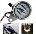 Universal motorcycle Dual Odometer Speedometer Meter W/ Night light F/  Motorbike instrument