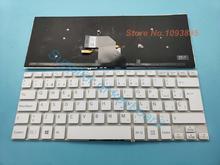 Nowość klawiatura hiszpańska/łacińska do instalacji sterownika SONY VAIO SVF144B1EU SVF14325CLW SVF14413CLW SVF142C29U biały Laptop hiszpański klawiatura z podświetleniem