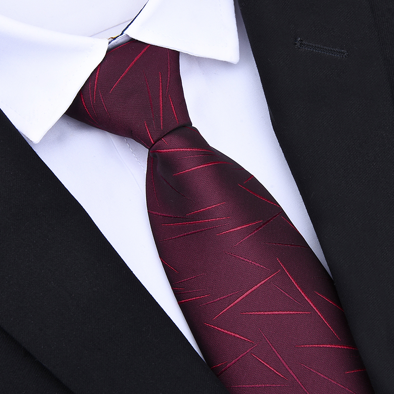 Zipper Ties 8cm Classic Men Business Formal Wedding Tie 8cm Striped Neck Tie Fashion Shirt Dress Accessories