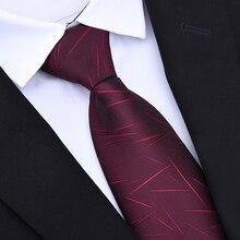 73da05bc88d06 Fermeture à glissière Liens 8 cm Classique Hommes D'affaires Formelle  Mariage Cravate 8 cm Cravate À Rayures Robe Chemise Mode A..