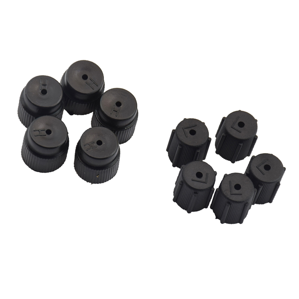 Image 4 - 10 Pcs/Set R134a 13mm & 16mm Air Conditioning Service AC System Charging Port Caps For Universal Car Air Conditioning-in Nuts & Bolts from Automobiles & Motorcycles