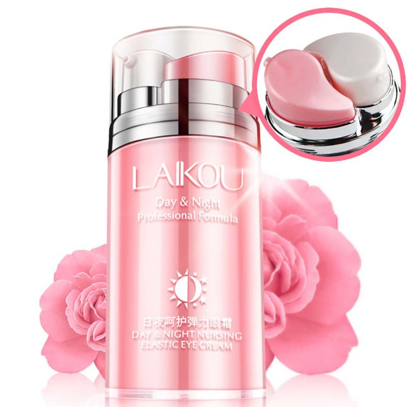 Rose Skin Remove Wrinkles Gold Activating Eye Cream Slide Ball Essence Circles Anti-puffiness Finelines Firming Eye Cream Beauty