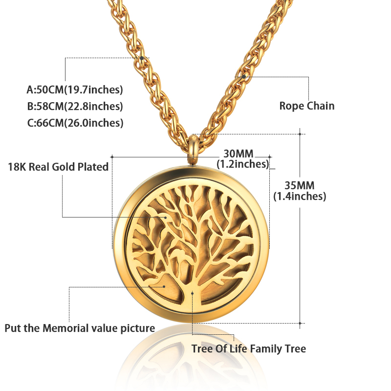 Well known Stainless Steel Tree of Life Pendant Collar Necklace Jewelry for  XR94