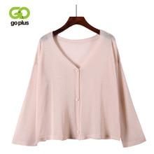 GOPLUS Autumn Cardigan Womens Knitted Jacket Pink V Neck Long Sleeve Jumper Sweater 2019 Elegant Outwear Clothing Femme
