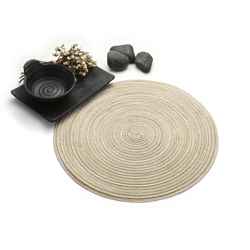 Nordic Style Table Ramie Insulation Pad Round Placemats Linen Table Mats Kitchen Accessories Decoration Home Pad Coaster