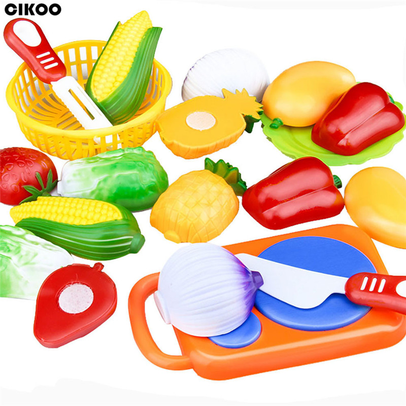 2019 Pretend Play Plastic Food Toy Cutting Fruit Vegetable Food Pretend Play Children For Children