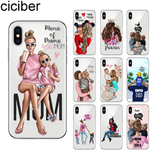 ciciber Fashion Girls Queen Super Mom for iPhone 7 8 6 6S Plus 5S SE X XR XS Max Soft TPU Cover 11 Pro Phone Case