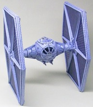 Paper Model Star Wars Tie Fighter DIY Handmade Toy