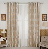 FYFUYOUFY Luxury European Style Villa Curtain Blue Room Embroidery Yarn Bedroom Whole Shading Jacquard Curtains