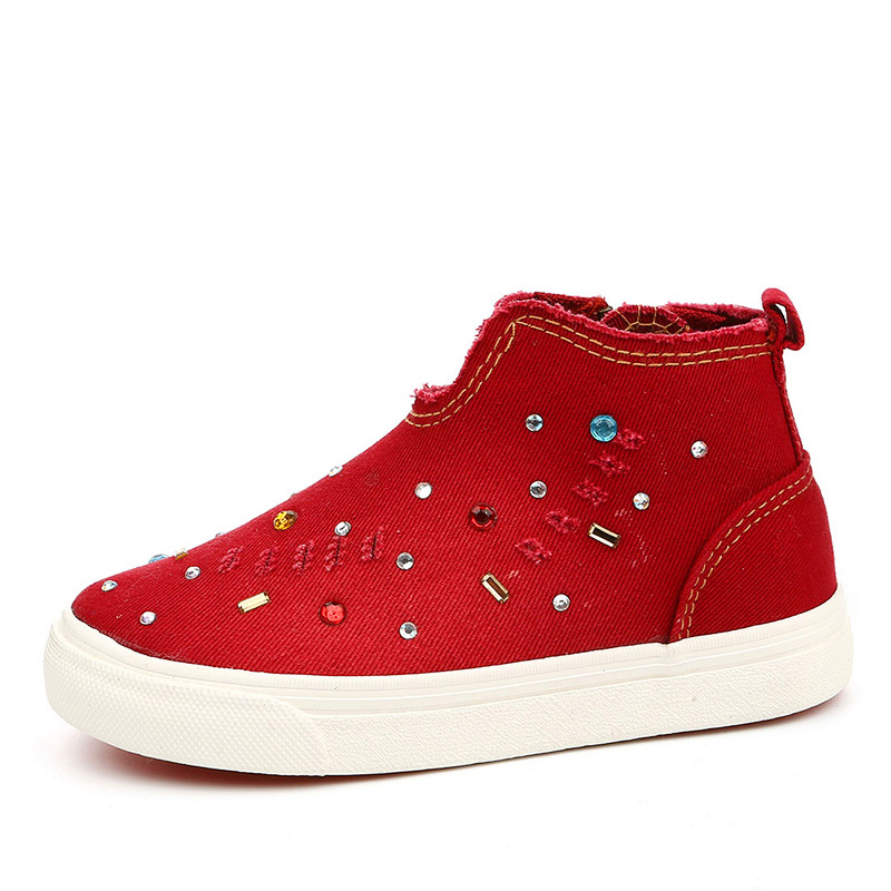 brand new 68792 11f90 Girl Fashion Sequin Sneakers High Ankle Football Boots ...