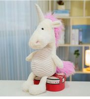 new style about 35cm cute cartoon unicorn plush toy soft doll Christmas gift w1907