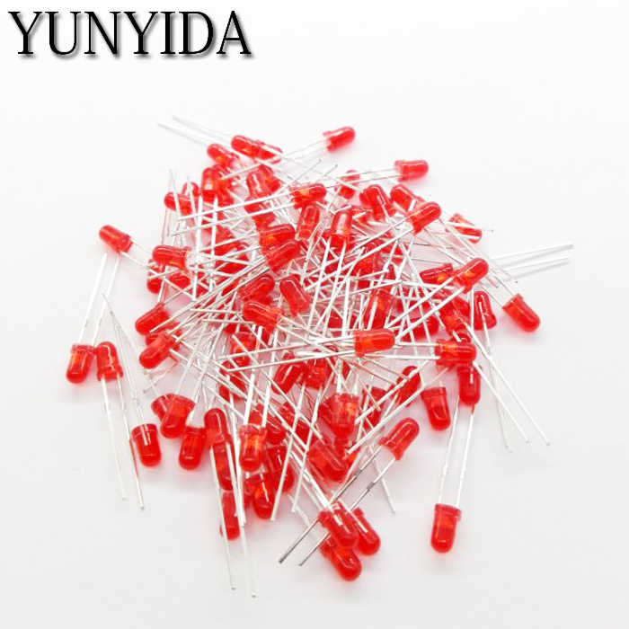 3mm LED rouge vert bleu jaune Orange blanc diode électroluminescente 100 PCS/LOT