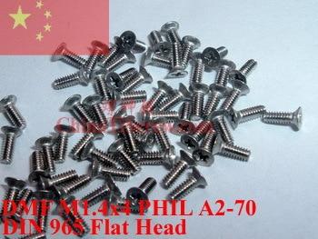 Tornillos cabeza avellanada TORX DIN 965 acero inox A2 M2 de 3mm a 20mm
