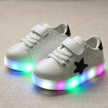 Children Shoes 2017 New fashion star Led Shoes Girls Princess Cute Shoes With Light luminous boy tenis girl trainer for baby