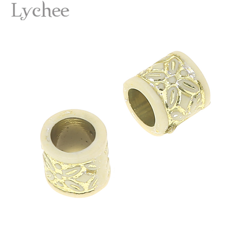 Lychee 20pcs Resin Plastic Flower Carved Hair Braid Dread Dreadlock Beads Clips Cuff Headwear Jewelry Men Women