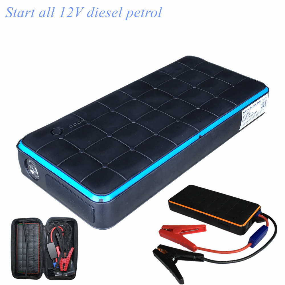 New Car Jump Starter 1000A Power Bank 12V Charger for Car Battery Petrol Diesel Waterproof Emergency Booster Starting Device practical 89800mah 12v 4usb car battery charger starting car jump starter booster power bank tool kit for auto starting device