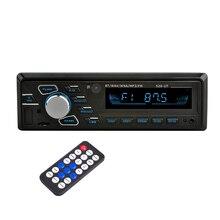 مشغل MP3 للسيارة 12 فولت صوت ستيريو للسيارة مزود بتقنية البلوتوث جهاز استقبال إف إم مزود بمعيار دين واحد مزود بمدخل Aux مشغل راديو USB MP3 WMA مشغل راديو BT للسيارة mp3
