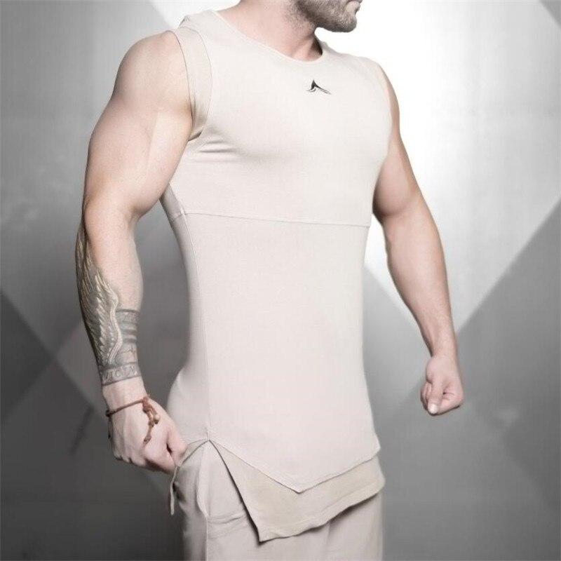 2019 New Mens Sleeveless Tank Tops Summer Male Tank Top Gyms Clothing Bodybuilding Undershirt Sportswear Fitness Tank Tops