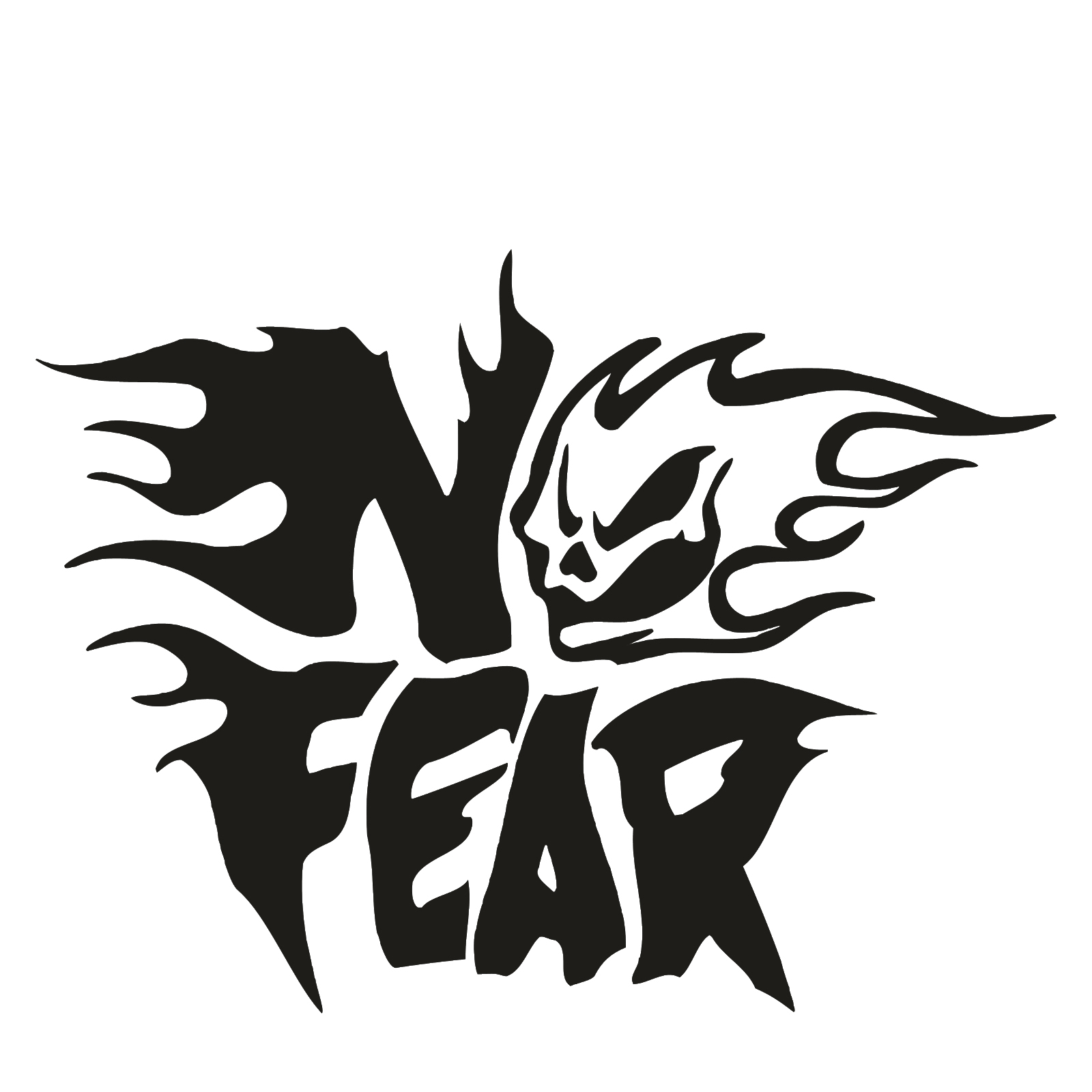 No Fear Flaming Skull Logo JDM Car Truck Window Laptop Vinyl Decal Sticker car