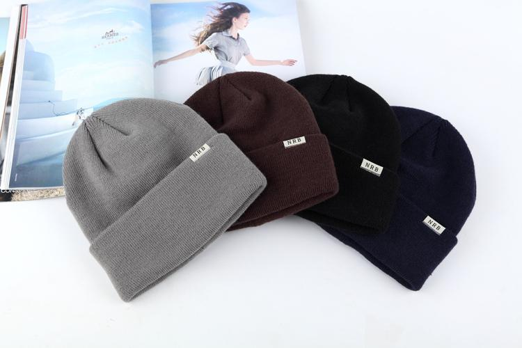 55d72fc1db7 10pcs A lot Supports Sew Your Brand Lable Adult Custom Candy color hats  Winter Beanies Casual Warm Beanie Hip hot Hats-in Skullies   Beanies from  Apparel ...