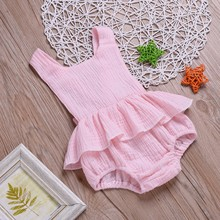 цена на Newborn Baby Girl Clothes Backless Design Jumpsuit Sleeveless baby girl dress Romper Infant Casual Baby Girls  Bodysuit Outfits