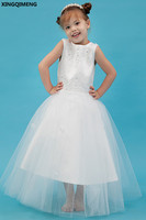 Appliques Flower Girl Dresses Sequined Beaded First Holy Communion Dresses Little Ladies Gown Pageant Dresses for Little Girl