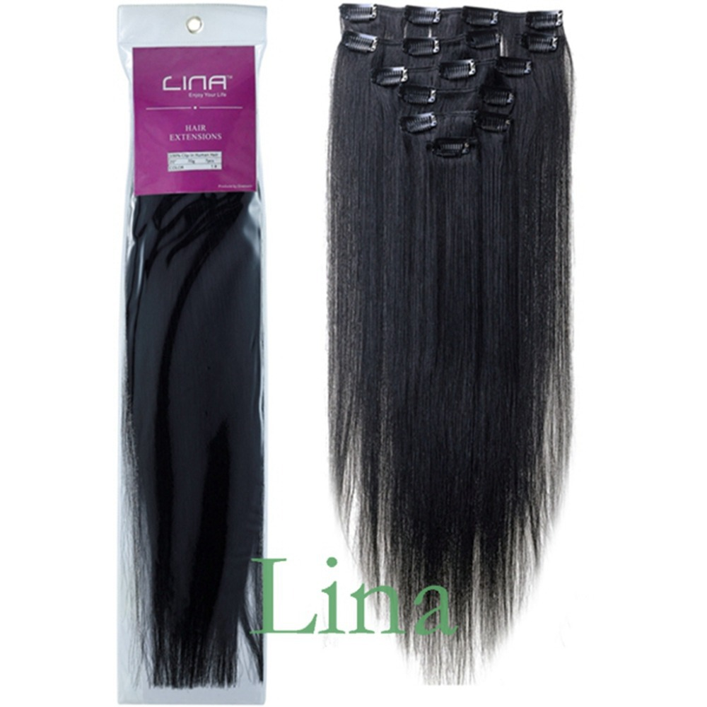 Lina 1 jet black 70g 7pcs 1522 inches clip in human hair lina 1 jet black 70g 7pcs 1522 inches clip in human hair extensions brazilian hair remy human hair with retail packaging on aliexpress alibaba group pmusecretfo Image collections