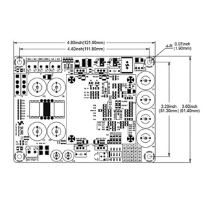 Image 2 - 500W DC to DC 12V Boost  Switching Power Supply  board Output voltage 24V 48V For car HiFi amplifier A3 012
