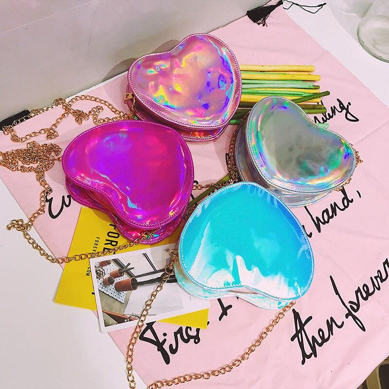 Bentoy 2017 милый сердцу Для женщин сумка Голограмма кошелек мини сумка дамская мода feminina цепи сумка