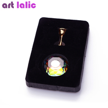 1Pc Magnetic Nail Holder Practice Training Display Stand Acrylic Crystal Holders Alloy False Nail Tip Salon DIY Manicure Tools