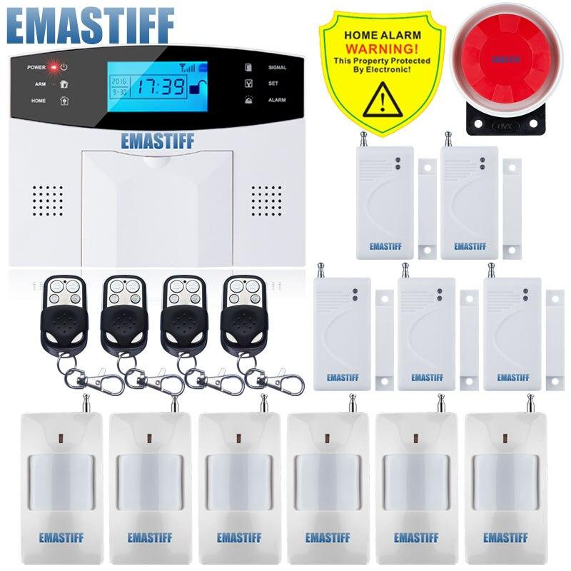 Yobang Sicherheit Wireless Blinkende Alarm Wifi & Gsm Einbrecher Home Alarm System Pir Motion Sensor App Fernbedienung Rauchmelder Alarm System Kits