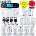 Sistema de alarma PSTN LCD con sistema de alarma WiFi/GSM intercomunicador Control remoto y Kit de Sensor de sirena Autodial